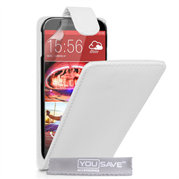 Yousave Accessories HTC ONE M9 Leather-Effect Flip Case - White