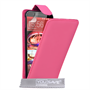 Yousave Accessories HTC ONE M9 Leather-Effect Flip Case - Hot Pink