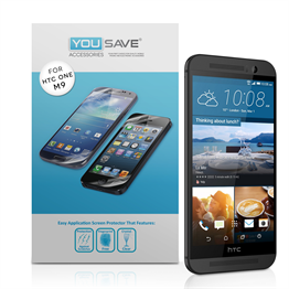 Yousave Accessories  HTC ONE M9 2015 Screen Protector Three Pack