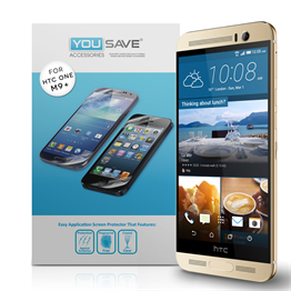 Yousave Accessories HTC ONE M9 Plus Screen Protectors - 3 Pack