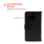 Yousave Accessories HTC ONE M9 Plus Leather-Effect Wallet Case - Black
