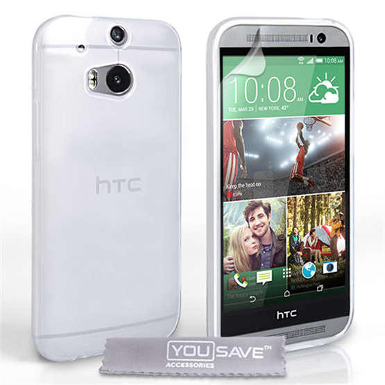 Yousave Accessories HTC One A9 0.6mm Ultra-Thin Clear Gel Case