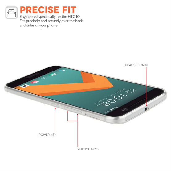 YouSave HTC 10 Ultra Thin Clear Gel Case
