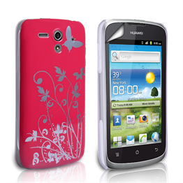 Yousave Accessories Huawei G300 IMD Hot Pink Case