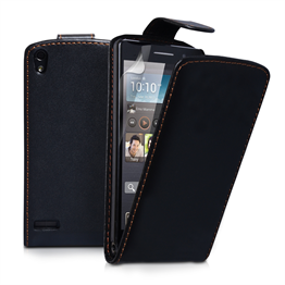 Yousave Accessories Huawei Ascend P6 PU Flip Black Case