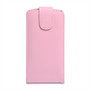 Yousave Accessories Huawei Ascend P6 PU Flip Baby Pink Case