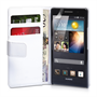 Yousave Accessories Huawei Ascend P6 PU Wallet White Case