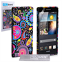 Yousave Accessories Huawei Ascend P6 Jellyfish Multicoloured Case