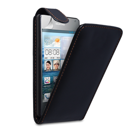 Yousave Accessories Huawei Ascend Y300 PU Flip Black Case