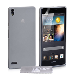 Yousave Accessories Huawei Ascend P6 Gel Clear Case