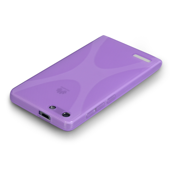 Yousave Accessories Huawei Ascend G6 Silicone Gel X-Line Case - Purple