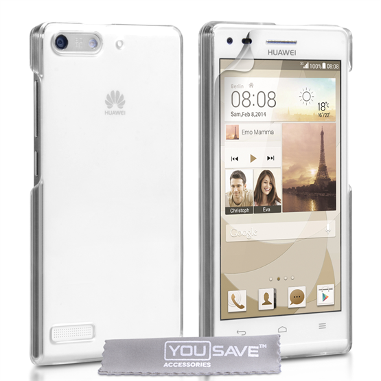 Yousave Accessories Huawei Ascend G6 Hard Case - Crystal Clear