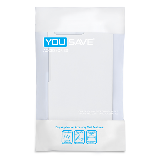 Yousave Accessories Huawei Ascend G6 Hard Hybrid Case - White