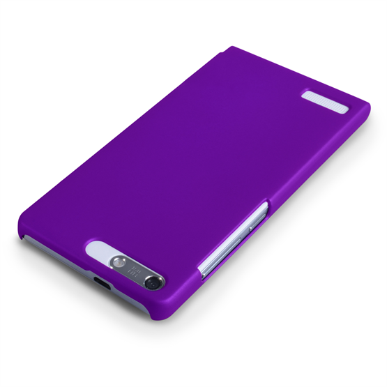 Yousave Accessories Huawei Ascend G6 Hard Hybrid Case - Purple