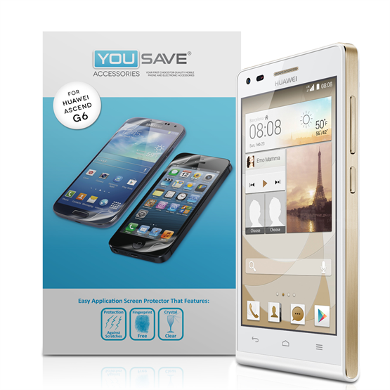 Yousave Accessories Huawei Ascend G6 Screen Protectors X 3 - Clear