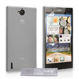 Yousave Accessories Huawei Ascend G740 Silicone Gel Case - Clear