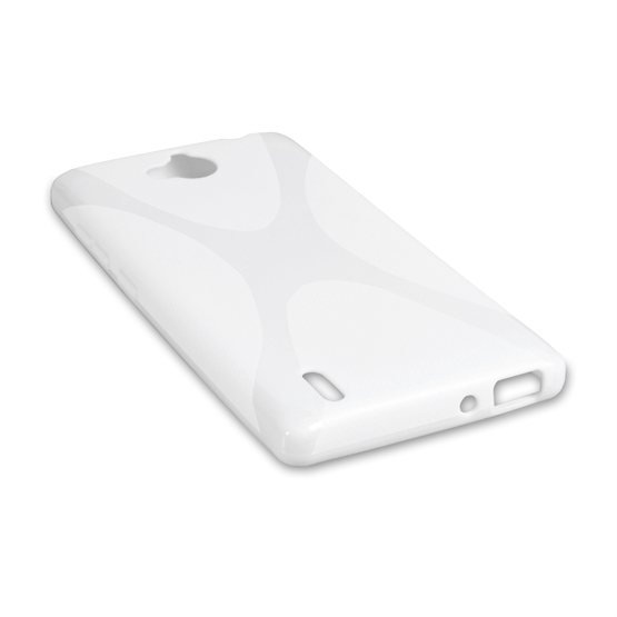 Yousave Accessories Huawei Ascend G740 Silicone Gel X-Line Case - White