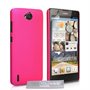 Yousave Accessories Huawei Ascend G740 Hard Hybrid Case - Hot Pink