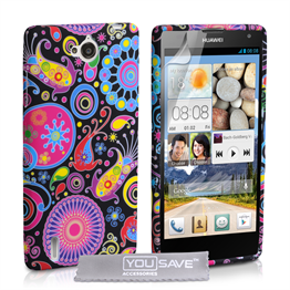 Yousave Accessories Huawei Ascend G740 Jellyfish Silicone Gel Case