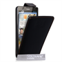 Yousave Accessories Huawei Ascend G740 Leather-Effect Flip Case - Black