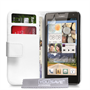 Yousave Accessories Huawei Ascend G740 Leather-Effect Wallet Case - White