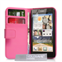 Yousave Accessories Huawei Ascend G740 Leather-Effect Wallet Case - Hot Pink