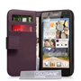 Yousave Accessories Huawei Ascend G740 Leather-Effect Wallet Case - Purple