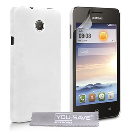 Yousave Accessories Huawei Ascend Y330 Hard Hybrid Case - White