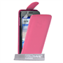 Yousave Accessories Huawei Ascend Y330 Leather-Effect Flip Case - Hot Pink