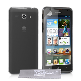 Yousave Accessories Huawei Ascend Y530 Hard Case - Crystal Clear