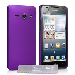 Yousave Accessories Huawei Ascend Y530 Hard Hybrid Case - Purple