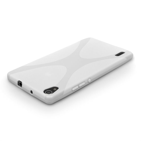 Yousave Accessories Huawei Ascend P7 Silicone Gel X-Line Case - White