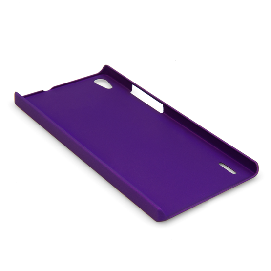 Yousave Accessories Huawei Ascend P7 Hard Hybrid Case - Purple