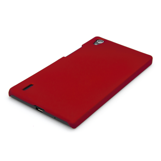 Yousave Accessories Huawei Ascend P7 Hard Hybrid Case - Red