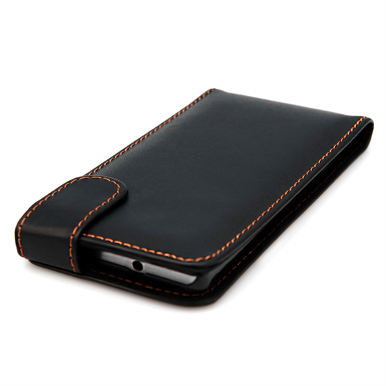 Yousave Accessories Huawei Ascend P7 Leather-Effect Flip Case - Black