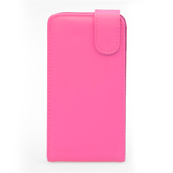 Yousave Accessories Huawei Ascend P7 Leather-Effect Flip Case - Hot Pink