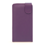 Yousave Accessories Huawei Ascend P7 Leather-Effect Flip Case - Purple