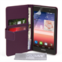 Yousave Accessories Huawei Ascend P7 Leather-Effect Wallet Case - Purple