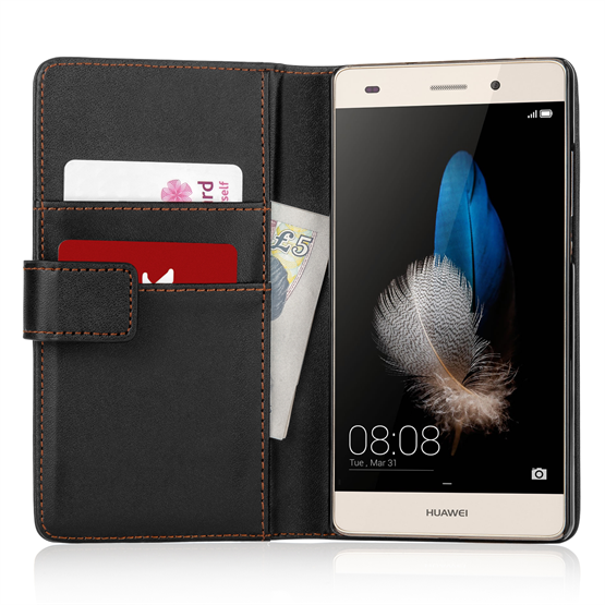 YouSave Huawei P8 Lite Leather-Effect Wallet Case - Black