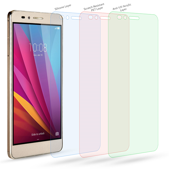 Yousave Accessories Huawei Honor 5X Screen Protectors x5