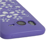 Yousave Accessories HTC Desire HD Purple Floral Silicone Case