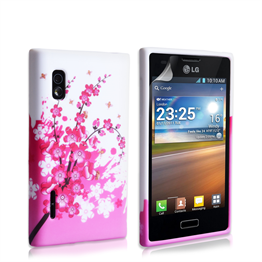 Yousave Accessories LG L5 Floral Bee Pink Case