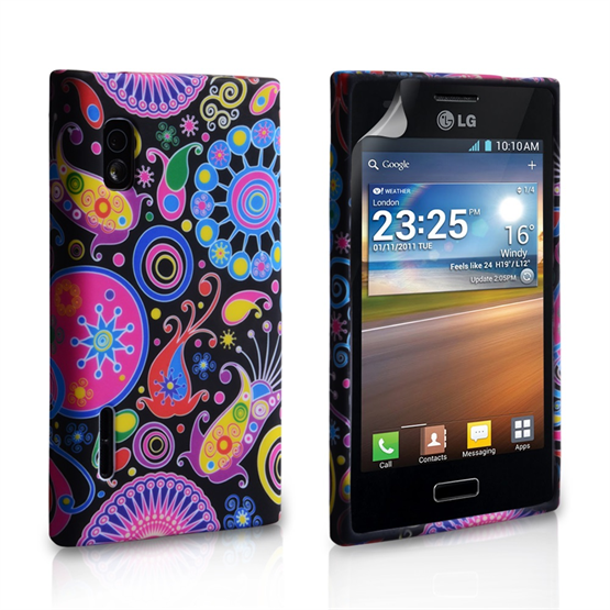 Yousave Accessories LG L5 Jellyfish Multicoloured Case