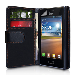 Yousave Accessories LG L5 Black PU Leather Wallet