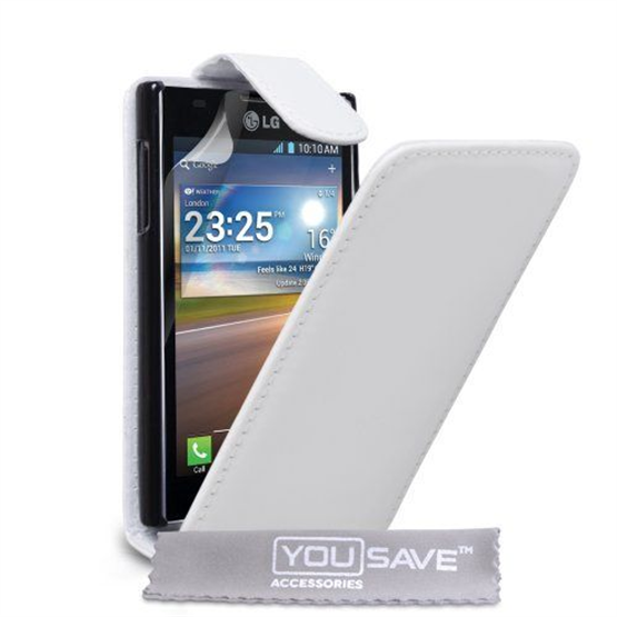 Yousave Accessories LG L5 White PU Leather Flip Case