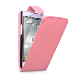 Yousave Accessories LG Optimus L9 Flip Leather Baby Pink Case