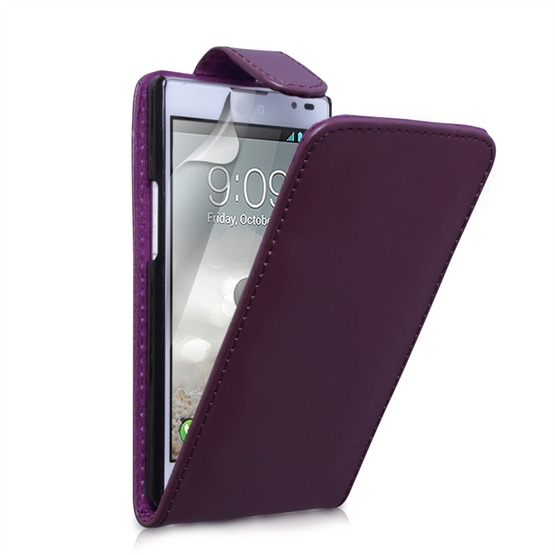 Yousave Accessories LG Optimus L9 Purple PU Leather Flip Case
