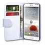 Yousave Accessories LG Optimus L9 Wallet Pu White Case