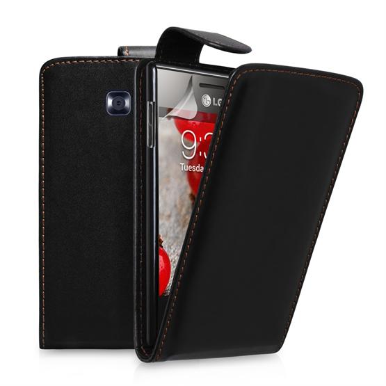 Yousave Accessories LG L3 Ii PU Flip Black Case