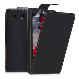 Yousave Accessories LG Optimus G Pro Leather-Effect Flip Case - Black
